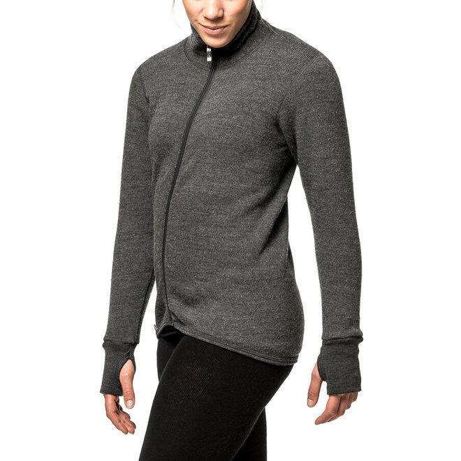 Merino Mid Layer Full Zip Jacket 400 - Grey
