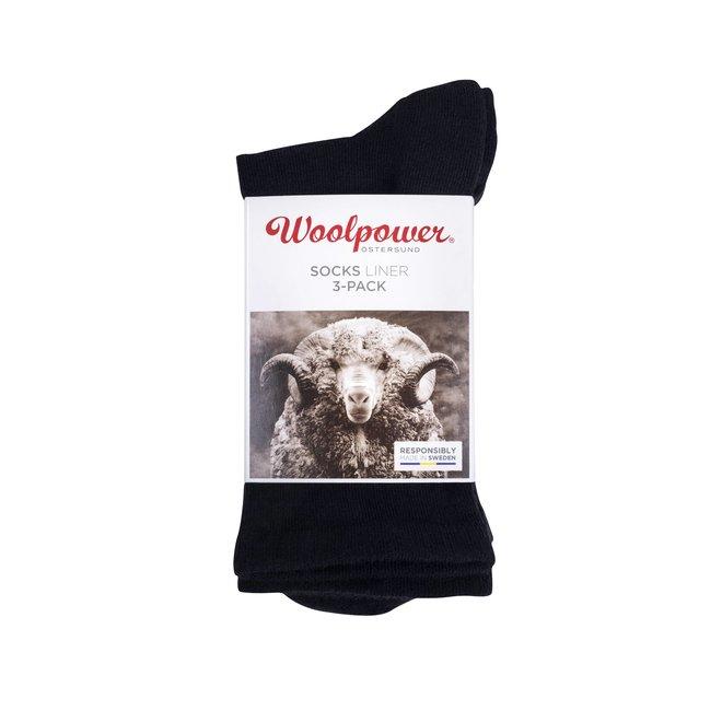 3-Pack: Liner Sokken - Zwart
