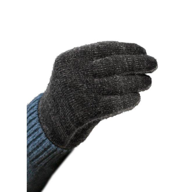 Possum/Merino Handschoenen - Lange Vingers - Black Charcoal