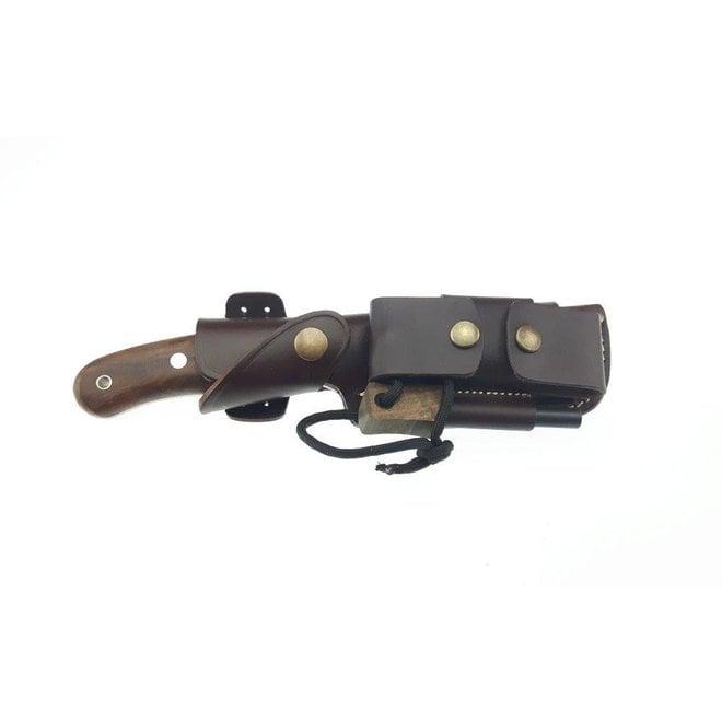 Boar Bushcraft Knife DC4&TBS Firesteel-Turkish Walnut-Multi Carry