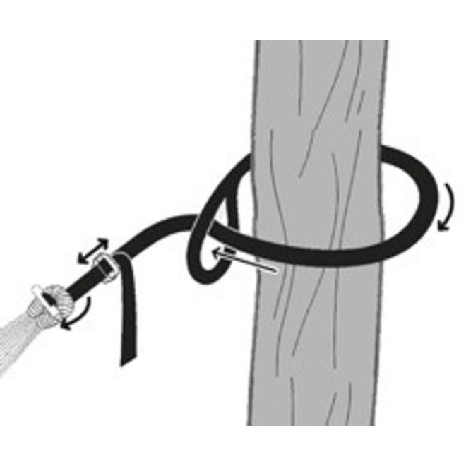 Hammock suspension rope: T-Strap