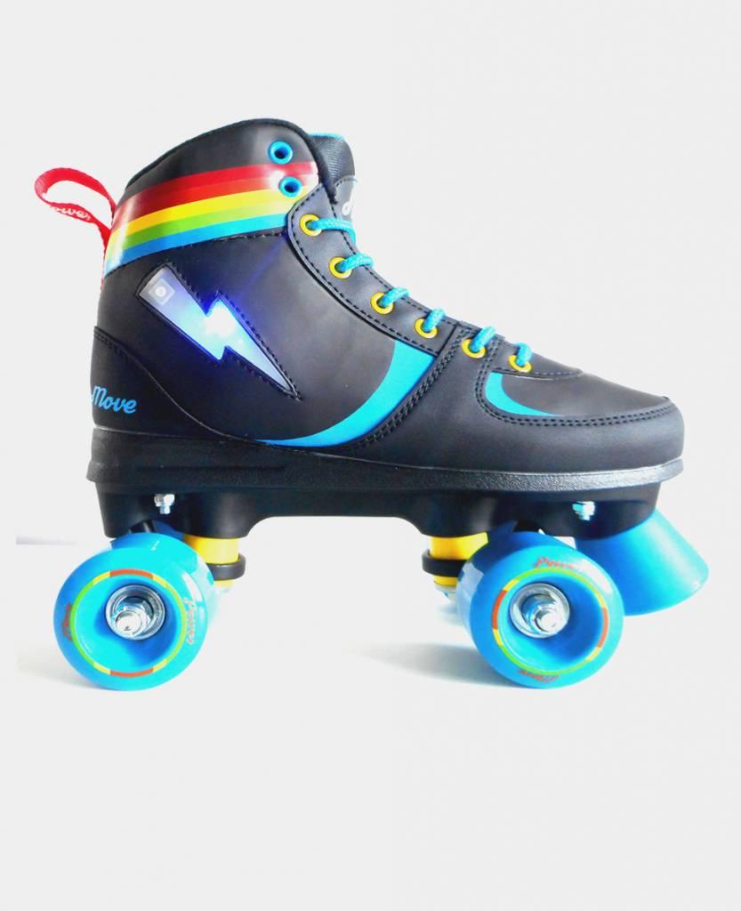 Move Rollerskates Quad Power Rainbow Lightning