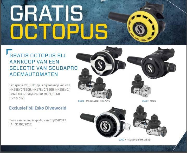 GRATIS* OCTOPUS R195 VAN SCUBAPRO