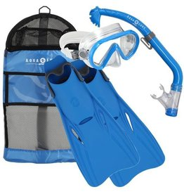 AquaLung Santa Cruz Snorkelset Kids Blue L/XL (32-37)
