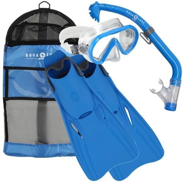 AquaLung Santa Cruz Snorkelset Kids Blue S/M (25-31)