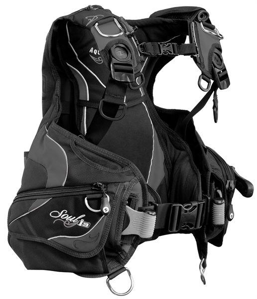 AquaLung Aqua Lung Soul I3 Black/Charcoal Trimjacket