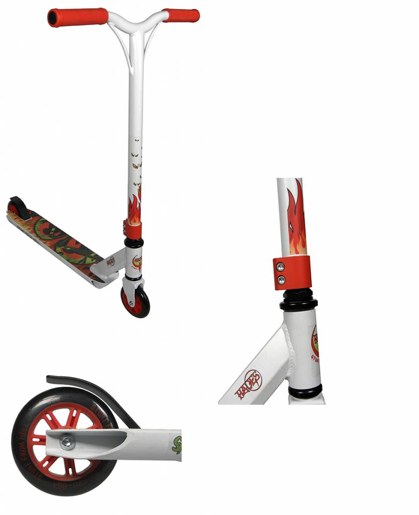 Hades Stunt Scooter Hades Helios White-Red