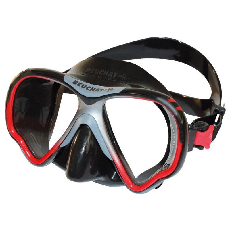 Beuchat Beuchat VIEW-MAX 2 HD Optical Masker Zwart/Rood