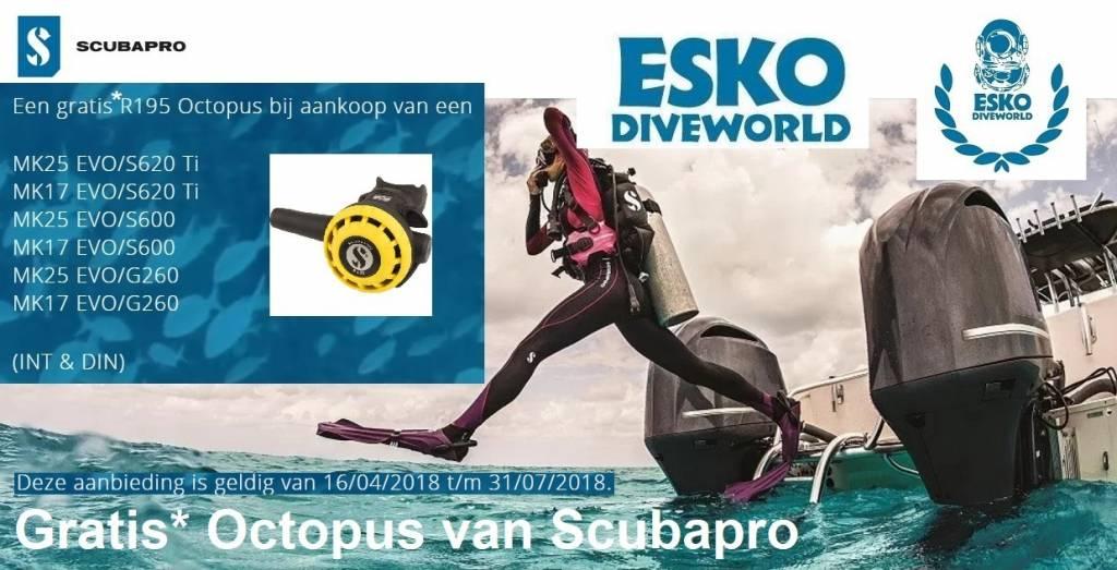 Scubapro Scubapro MK25 EVO / S620TI +Gratis Octopus R195