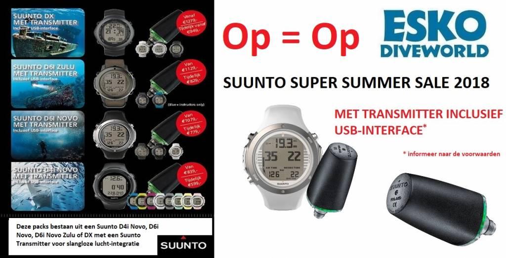 Suunto Suunto D4i Novo white Gold duikcomputer + Tank pressure Transmitter ACTIE