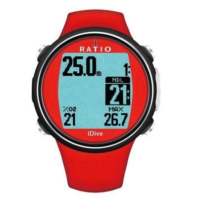 Ratio Ratio iDive Easy Sport duikcomputer Rood