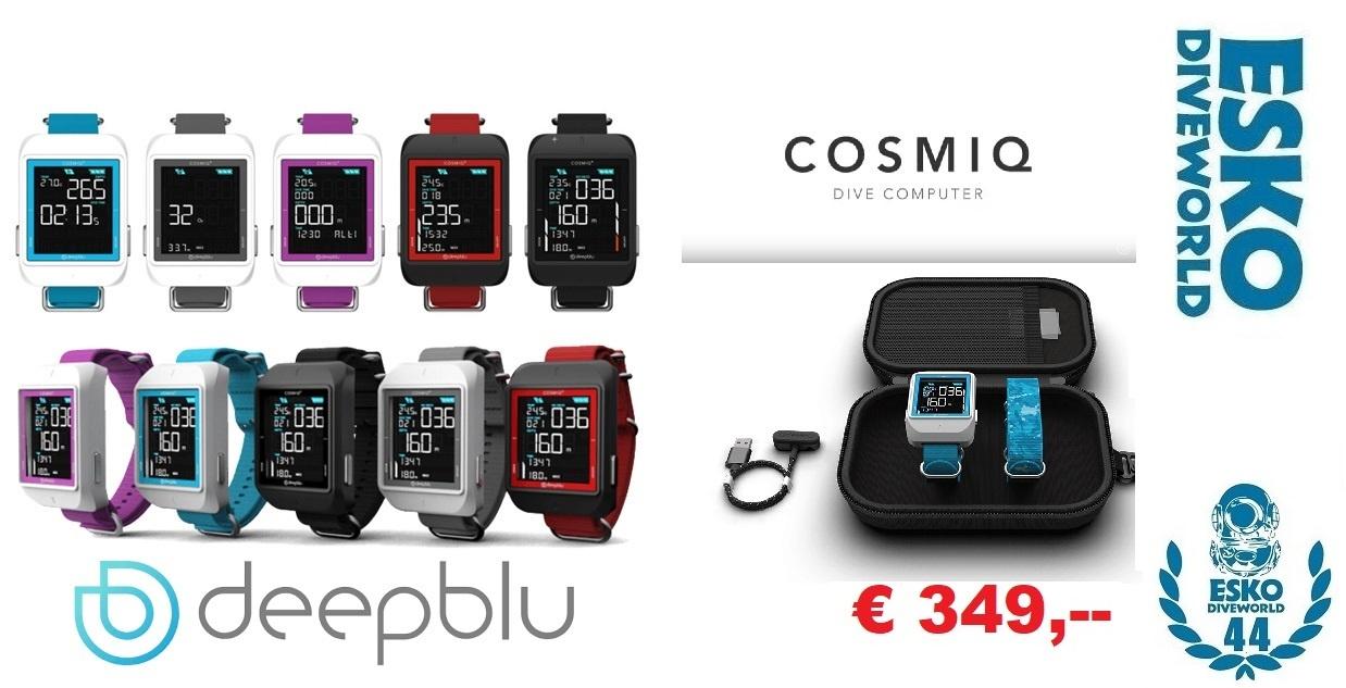Deepblu Cosmiq + Duikcomputer Ocean Blue