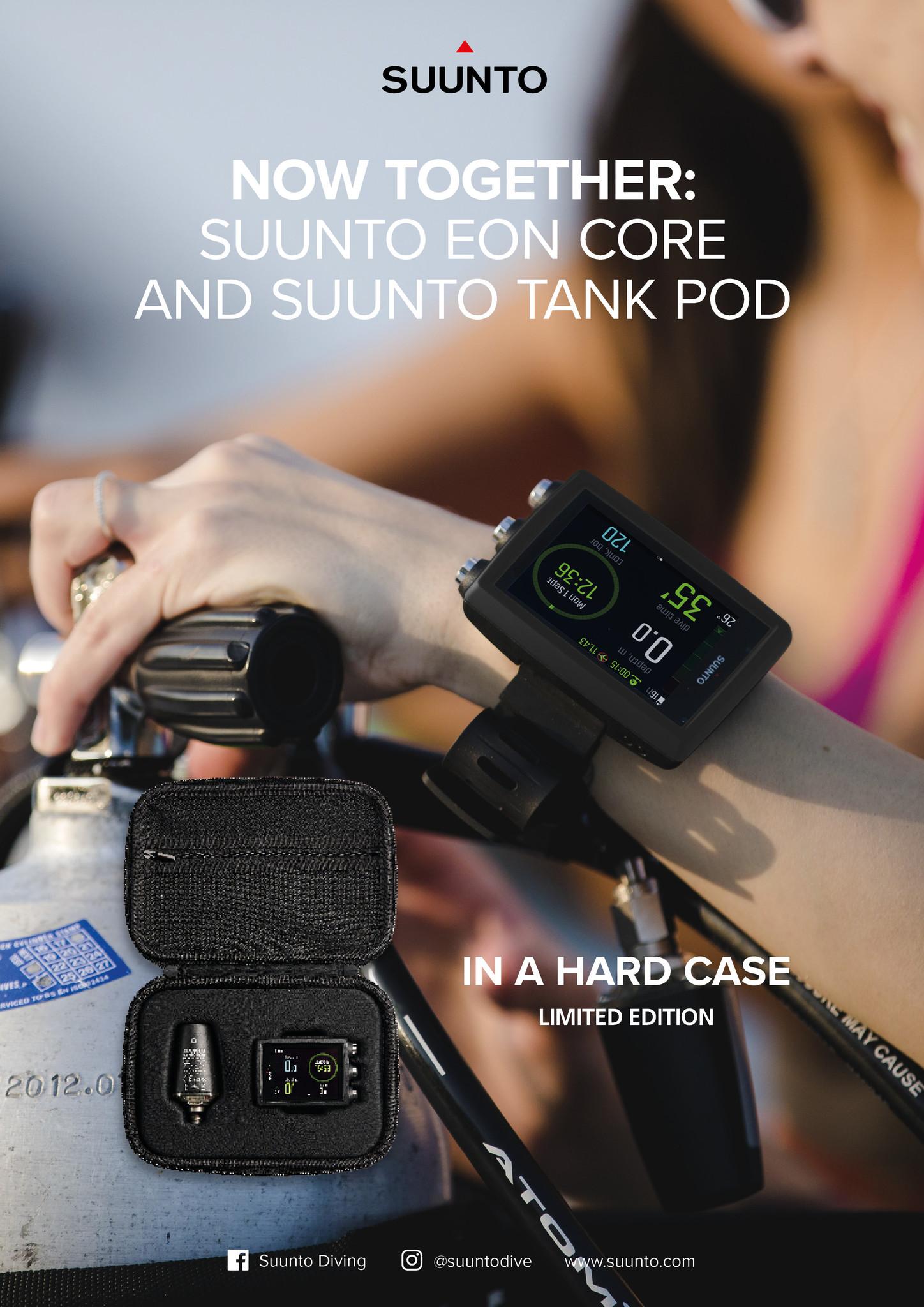 Suunto Suunto EON Core duikcomputer & Suunto Tankpod inclusief usb kabel, hardcase en air-flow restrictor