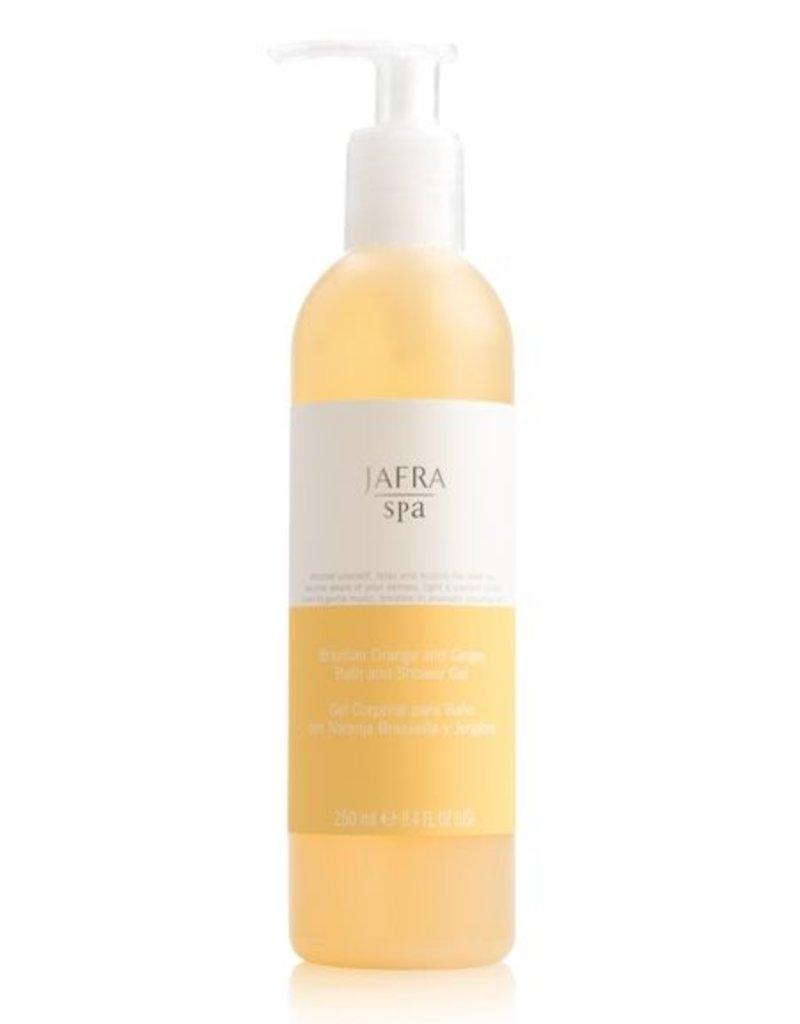Jafra Cosmetics Jafra SPA Sansibar Orange und Ingwer Bade- und Duschgel | Brazilian Orange and Ginger Bath and Shower Gel | Spenderflasche 250 ml