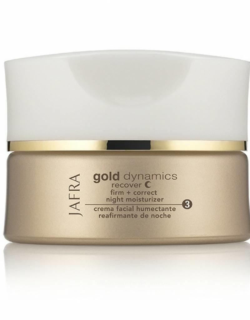 Jafra Cosmetics Jafra Gold Dynamics Straffende Feuchtigkeitspflege für die Nacht | Glastiegel | 50 ml