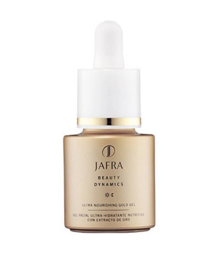 Jafra Cosmetics Jafra Gold Dynamics Straffendes Pflegeserum mit Goldpartikeln | Glasflasche mit Pipette | 30 ml