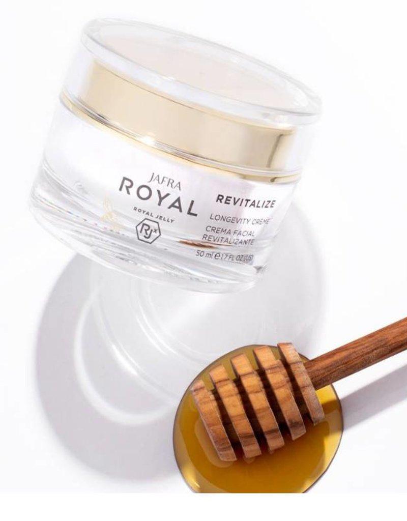 Jafra Cosmetics Jafra Royal Jelly Revitalize Vitalisierende Creme | Longevity Crème  | Tiegel 50 ml