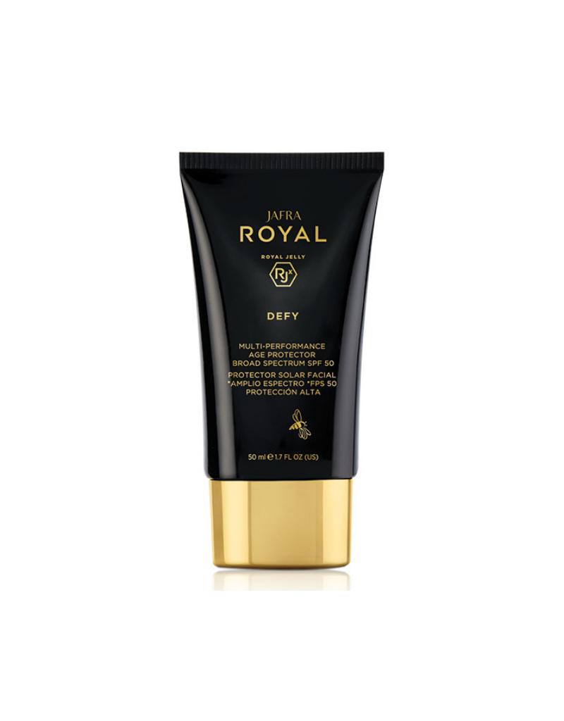 Jafra Cosmetics Jafra Royal Defy Multi Performance Age Protector Sonnenschutz SPF50 | Multi-Performance Age Protector Broad-Spectrum SPF 50 | Tube | 50 ml | 15534
