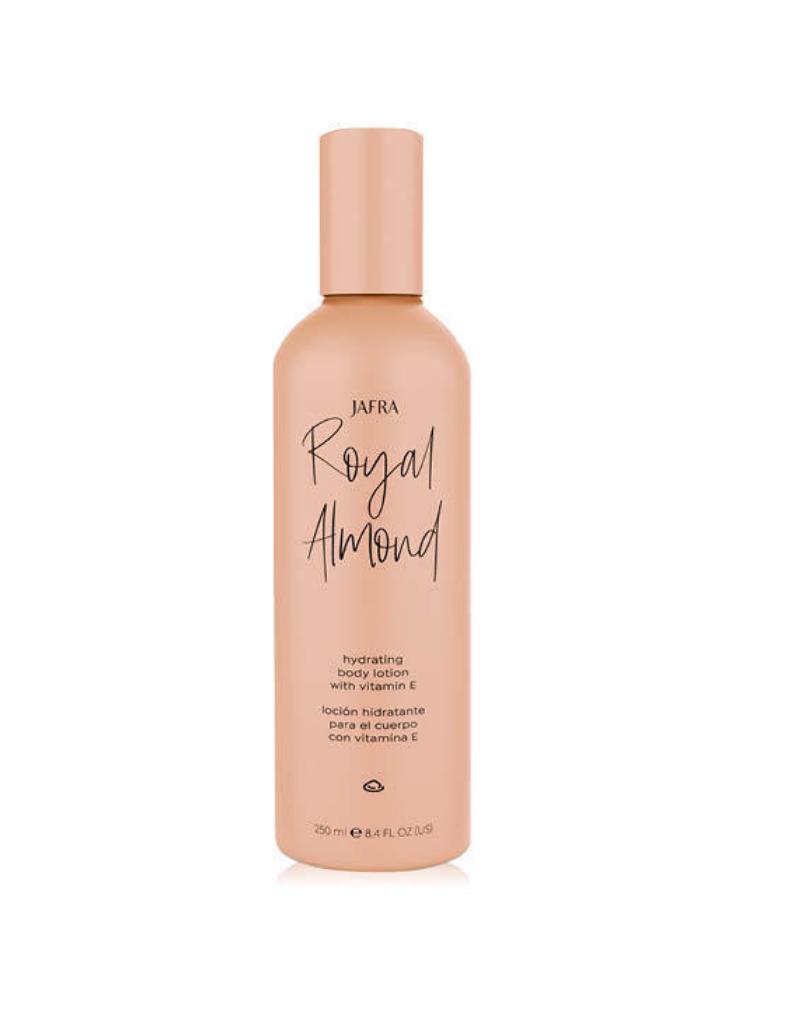 Jafra Cosmetics Jafra Royal Almond Feuchtigkeitsspendende Körperlotion mit Vitamin E | Hydrating Body Lotion with Vitamin E| Flasche| 250 ml