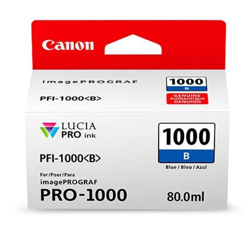 Canon PFI-1000B Blauw 80ml - 0555C001