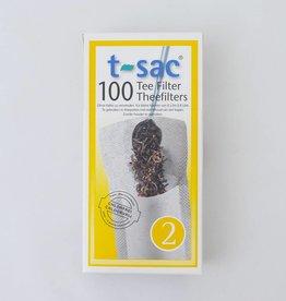 100 Lege theezakjes maat 2 (klein)