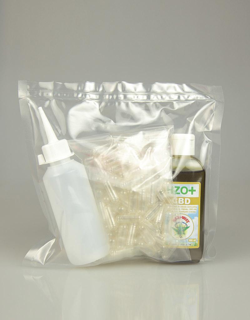 Medi-wiet  HZO+CBD capsules zelf-maak setje