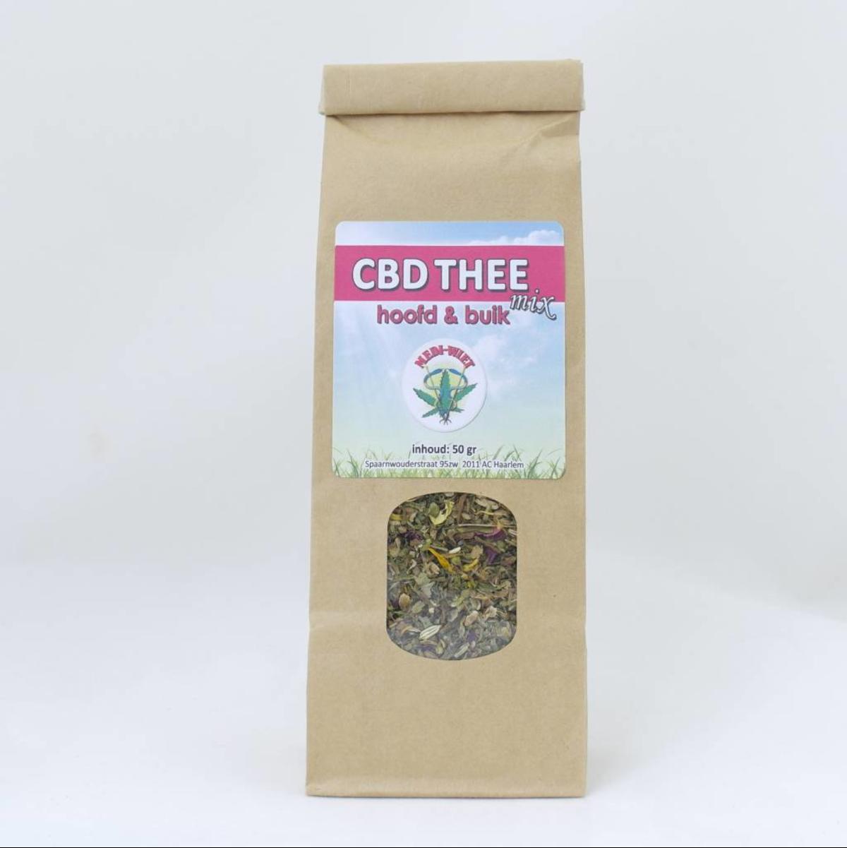 Mediwiet  CBD Hennepthee mix 'hoofd&buik' (50gr)