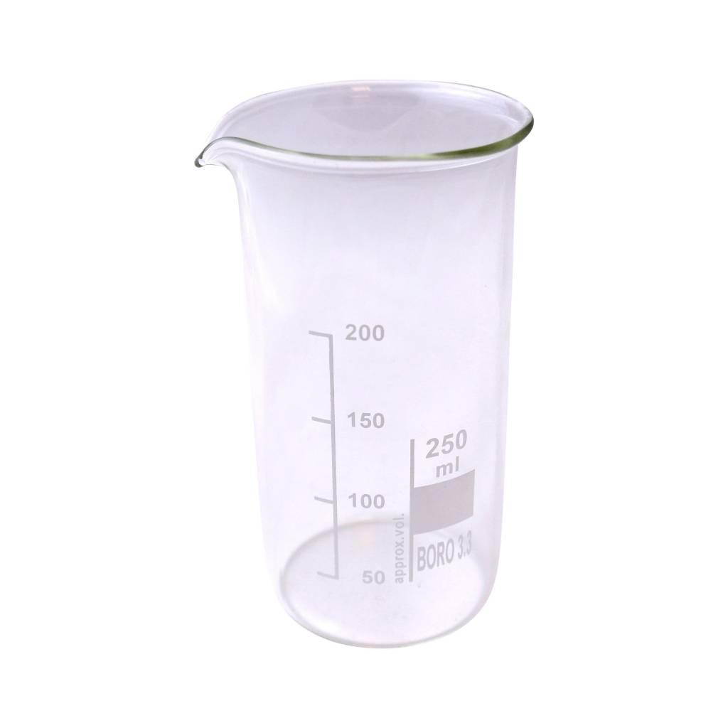 Maatbeker Dik of dun glas (250ml)