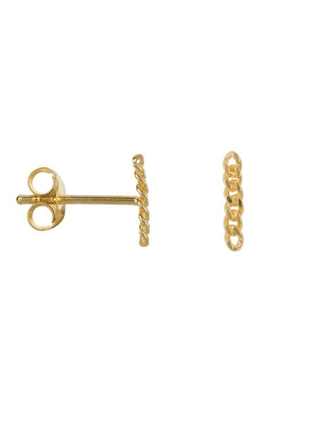 Betty Bogaers Chain Stud Earring Gold Plated