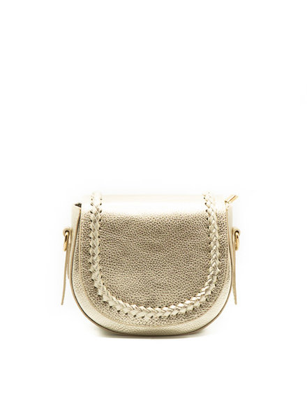 New Apperal Leather Boho Crossbody Bag Gold