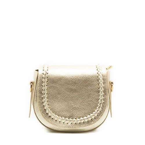 New Apperal Leather Boho Crossbody Bag Gold