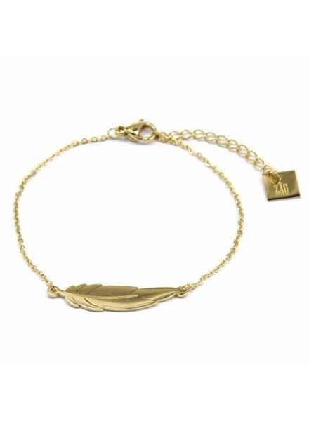ZAG Bijoux zag bijoux armband veer goud