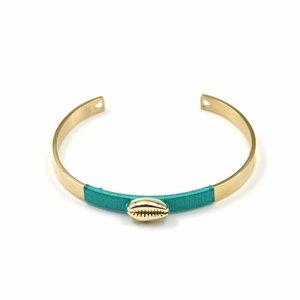 ZAG Bijoux Armband Turquoise Schelp
