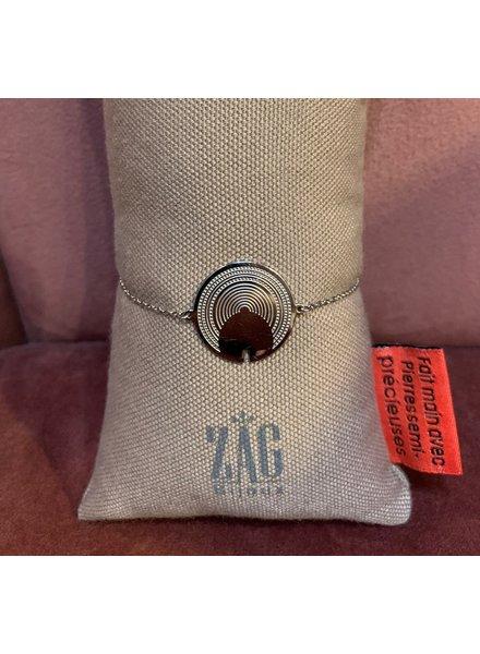 ZAG Bijoux Cirkel armband zilver