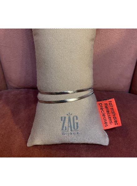 ZAG Bijoux Dubbele flat armband zilver