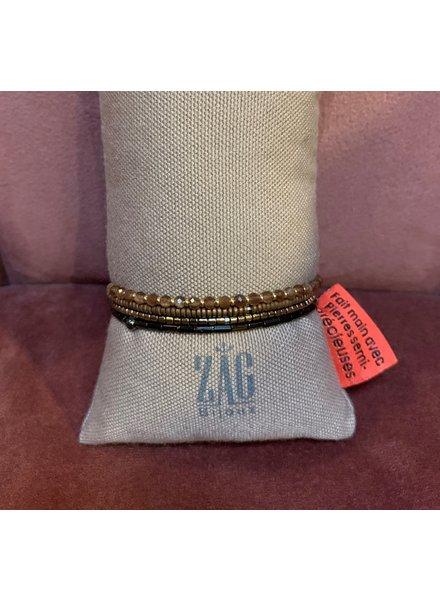 ZAG Bijoux Wikkel armband bruin
