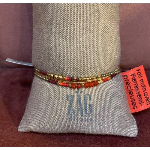 ZAG Bijoux Wikkelarmband rood met oranje