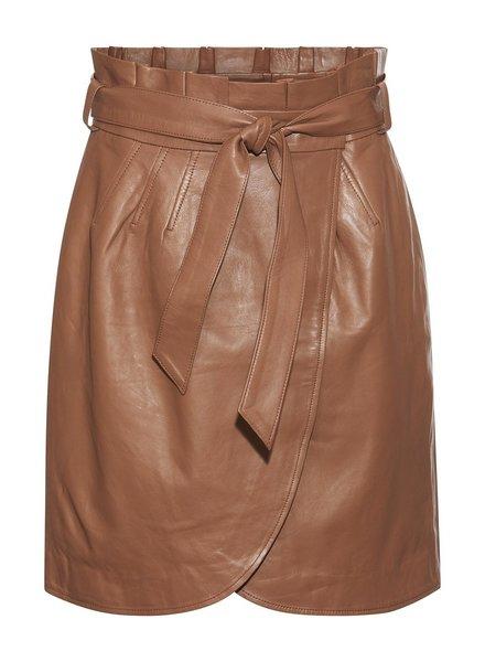 Rue De Femme Alberta leather skirt - brown
