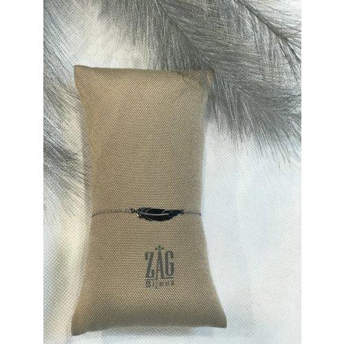 ZAG Bijoux ARMBAND VEER - ZILVER