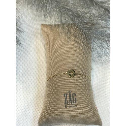 ZAG Bijoux ARMBAND COMPASS - GOUD