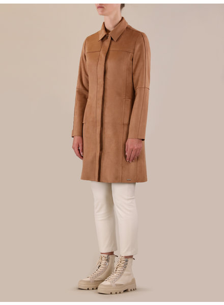 Rino & Pelle Faux suede coat toasted nut