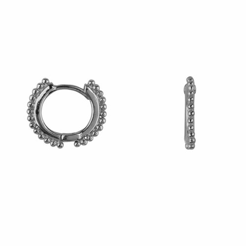 Betty Bogaers Balls on a small Hoop Earring - silver