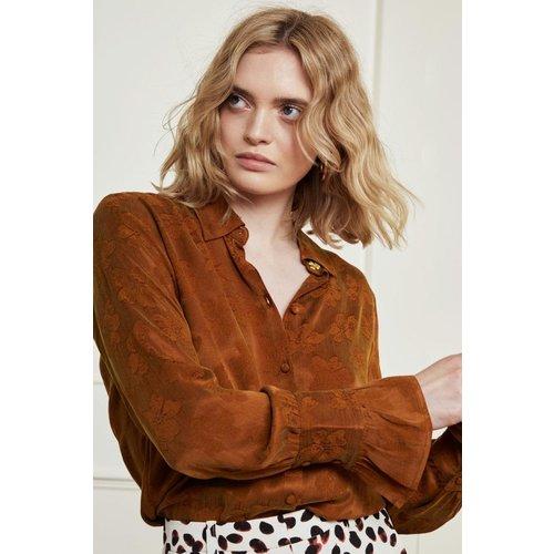Fabienne Chapot Philia Tess blouse - cognac