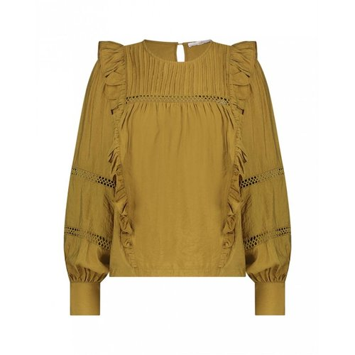 Aaiko Vayenna Vis blouse - olive