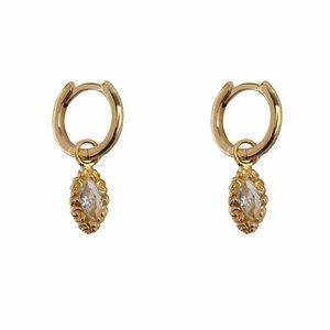 Betty Bogaers Small hoop drop earring - gold