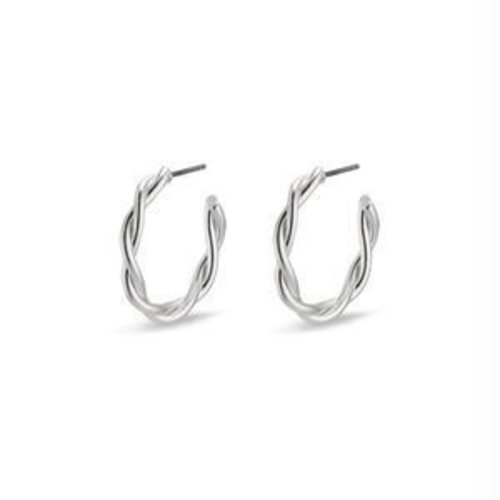 Pilgrim Naja earrings - silver