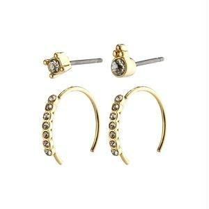 Pilgrim Kali earrings - gold