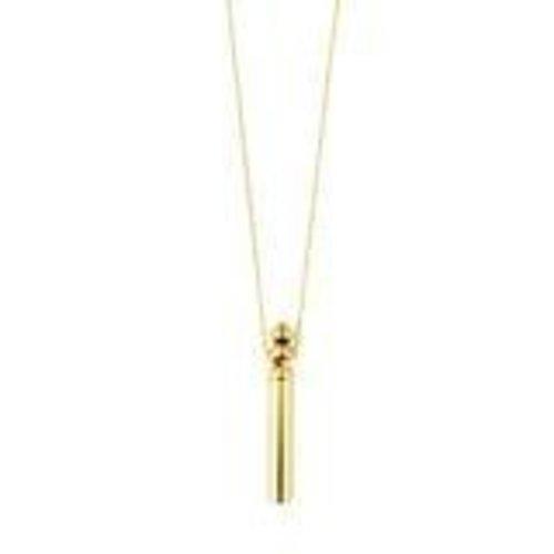 Pilgrim Reconnect tube necklace - gold
