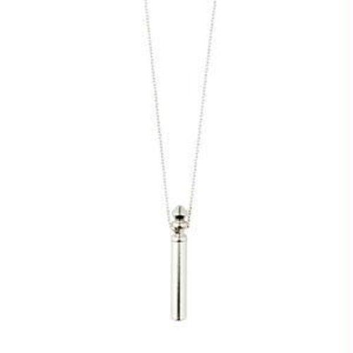 Pillgrim Reconnect tube necklace - silv
