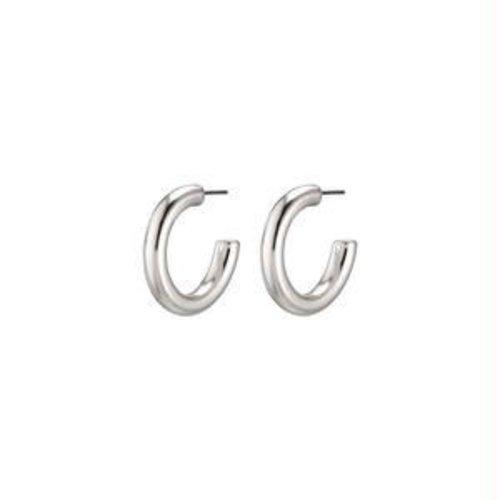 Pilgrim Dolag earrings - silver